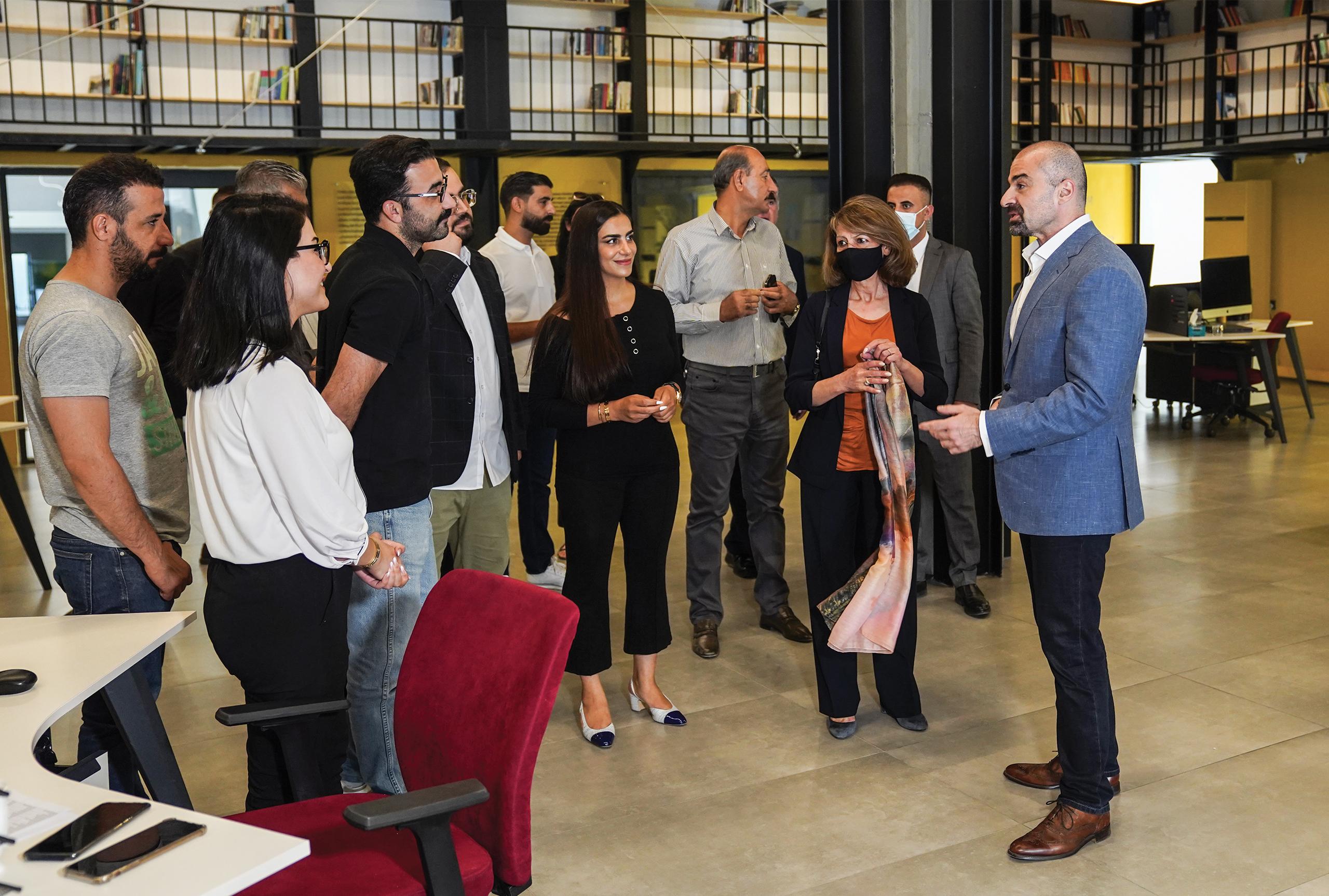 Bafel Talabani and Shanaz Ibrahim Ahmad visited Vim Foundation